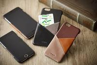 Genuine Leather cell phone back cover with pocket and card holder