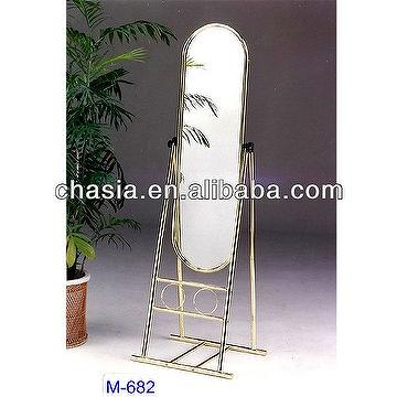 Brass Metal Dressing Mirror Stand