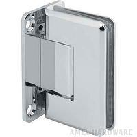 Glass shower door hinge