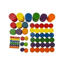 6 Colors 5 Sizes Wood Round Piece Boards Set
