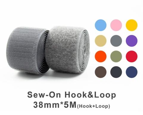 """38mm(1.5"""") Width 5 Pair Meters Sew-On Hook & Loop"""