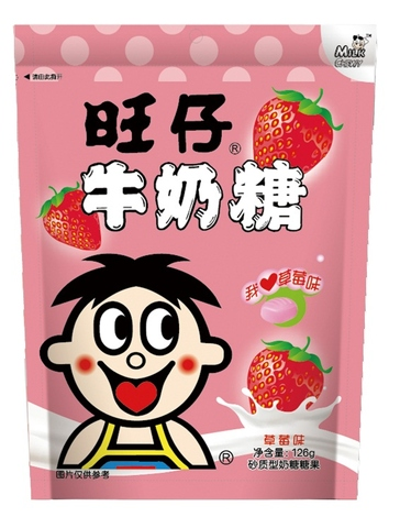 Want Want Milk Chewy Candy (OEM) - Strawberry