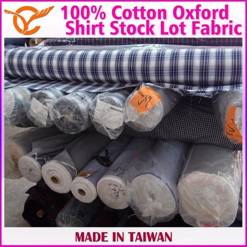 Taiwan Taiwan Online Shopping 100% Cotton Check Oxford Stock