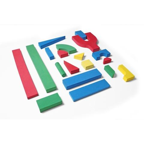 EVA Big size building block set B 15 shapes 166 pcs