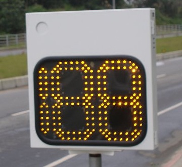 "18"" digit power saving radar sign"