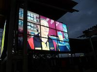 outdoor sunlight readable weatherproof LCD video wall