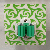 Reusable Wall Type Tool Holder (Green)