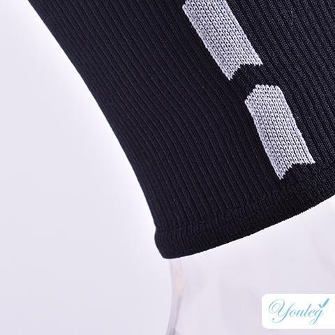 Athletic Firm Pressure Sports Leg Sleeves in Black
