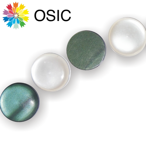 Taiwan Luster Bismuth Effect Pearl Essence Polyester Buttons