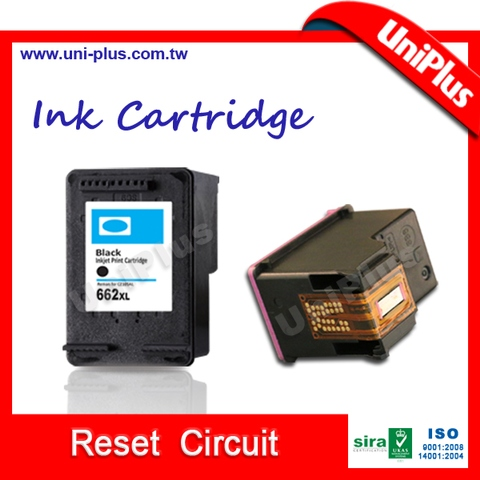 Chip reset cartridge for HP 662 deskjet 2646 3510 3515 3516 3525 3540 3545 printer ink cartridge