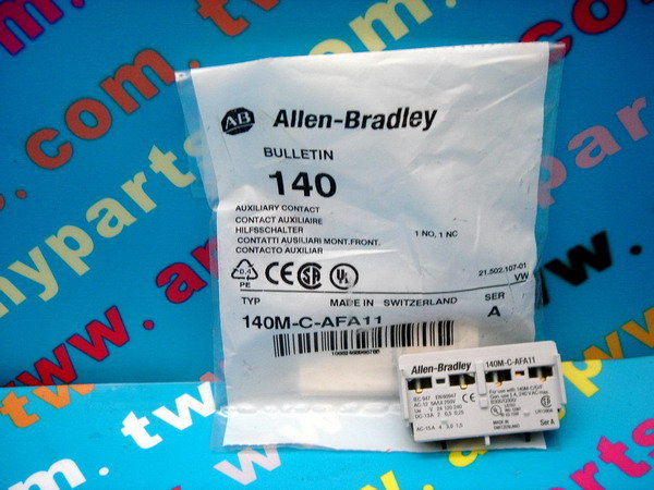 PLC-ALLEN BRADLEY 140M-C-AFA11 AUXILIARY CONTACT BLOCK FRONT MOUNTED