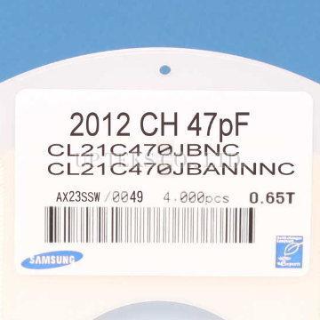 Taiwan Cl21c470jbannnc Samsung Mlcc 0805 47pf 50v C0g