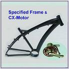 bicycle frame with motor holder