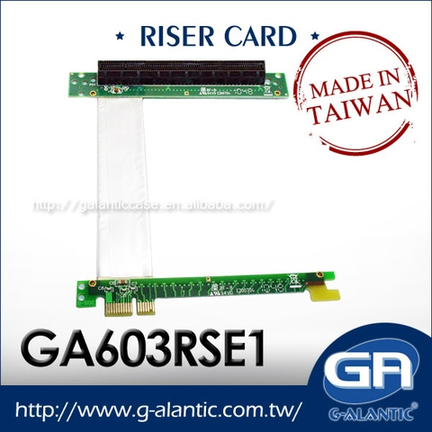 GA603RSE1 - x1 to x16 pci express for 1U Low Profile Series Riser Card