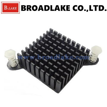 aluminum cpu heatsink bga heatsink with push pin AL6063-T5 made in Taiwan OEM service
