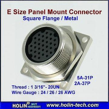 Taiwan E Size Panel Mount Waterproof Connector 4 Hole
