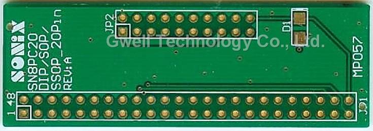 Sonix Adapter Plate_mcu ic lora nordic taiwan