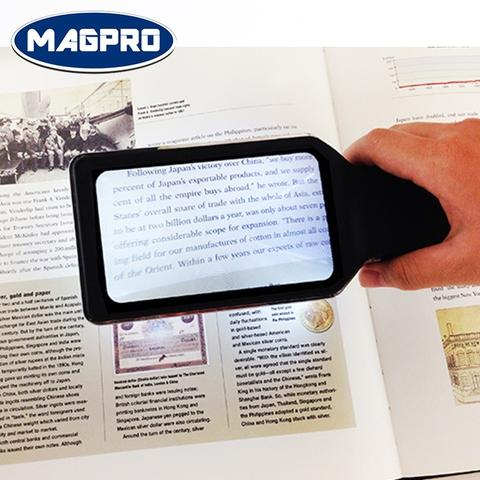 LED handheld magnifying glass 3x enlargement