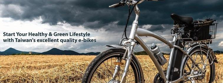 Start Your Healthy & Green Lifestyle with Taiwan's excellent quality e-bikes