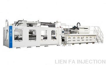 DUAL LOCK PLATEN WITH FOUR CYLINDERS DIRECT CLAMPING DRIVE HIGH EFFICIENCY INJECTION MOLDING MACHINE