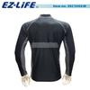 EZ-LiFE MENS LONG SLEEVE RASH GUARD #35C1043-M-Black/Grey