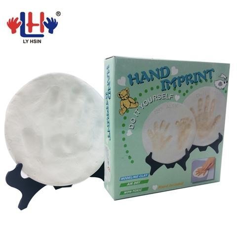White 360g Air Dry Modeling Handprint Footprint Clay Set