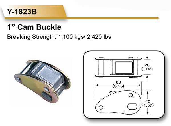 1 inch and 25mm 1100 KGS All Types of Metal Zinc Cam Buckle
