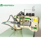 Industrial Sewing Machine, Small Cylinder-bed Interlock Stitch Machine, 4-needle 6-thread feed-off-the-arm Interlock Flatseaming Machine, Flatseamer, Flatlock Stitch Machine, Flatlocker