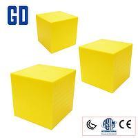 Yellow Decimeter cube