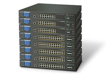 L2+ 16/24-Port Gigabit +2/4-Port 10GbE SFP+ Managed Switch with Color Touch LCD