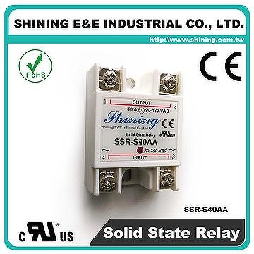 Taiwan SSRS40AA Single Phase 40Amp AC to AC Solid State Relays