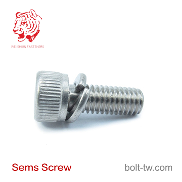 self locking full thread screw with washer-Machine Screw