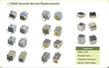 SMD Molded Toko Variable & Fixed Inductors and Coils