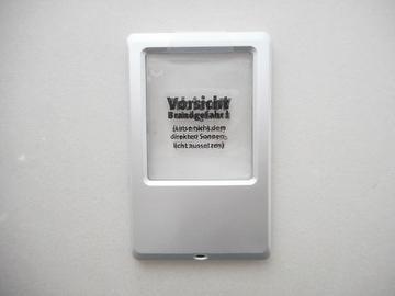 Lupa de lectura de carta de plástico con tamaño de cartera con luz LED