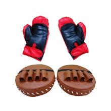 Boxing Glove& Boxing Focus Pad Set