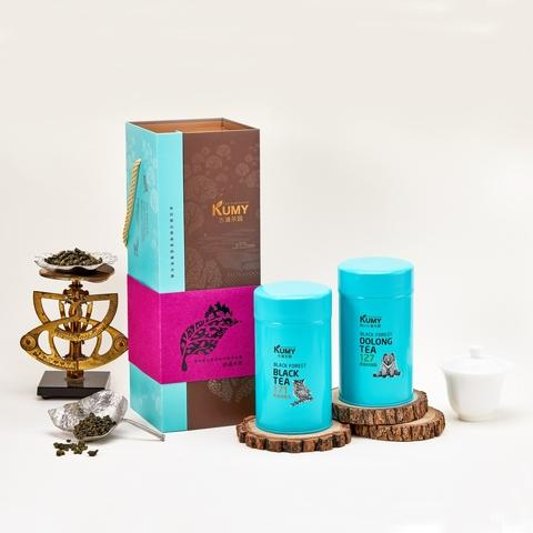 Tea Gift Set, Premium Oolong Tea, Black Tea, Tea Leaves