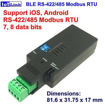 Taiwan Bluetooth BLE RS485 adapter, support iOS Modbus RTU, RS422