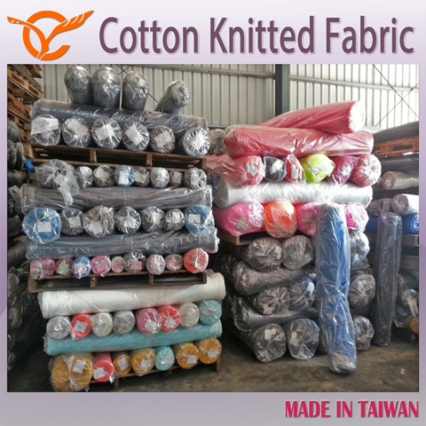 52177183ad8 Taiwan Cheap Price 100 Cotton Single Jersey Knitted Fabric Stock Lot ...