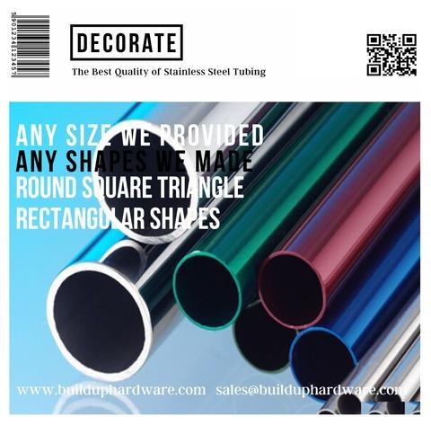 304 Ornamental Stainless Steel Round Tubing