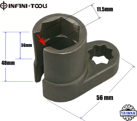 DIESEL ENGINE INJECTOR SOCKET REMOVAL TOOL 22mm 1//2 Drive For MERCEDES