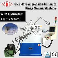 CNC-45 Compression Spring & Ring Making Machine