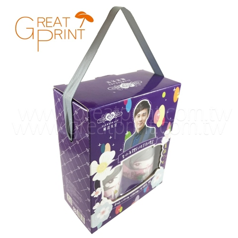 Taiwan Custom Cardboard Box with Handle, Corrugated Paper