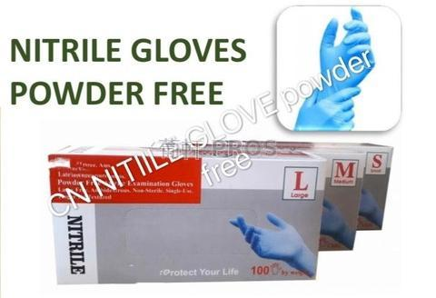 Nitrile NBR powder free medical gloves, Vietnam made