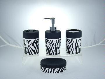 Zebra Bathroom Set W Leather Paint Taiwantrade Com