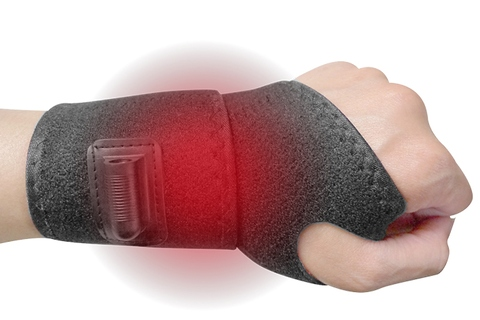 Heat Therapy Wrist Wrap, Electric Heating Pad Support, Far Infrared Pain Relief