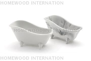 Bathtub shaped container