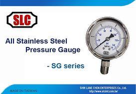 All Stainless Steel Pressure Gauge - SLC