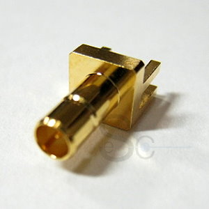 SMB female connector 75 ohm for PCB mount