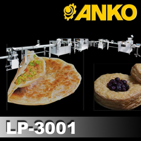 Automatic Layer & Stuffed Paratha Production Line(Green Scallion Pie, Paratha, Roti chania, Puff Pastry, Stuffed Paratha, Anko Food Machine)