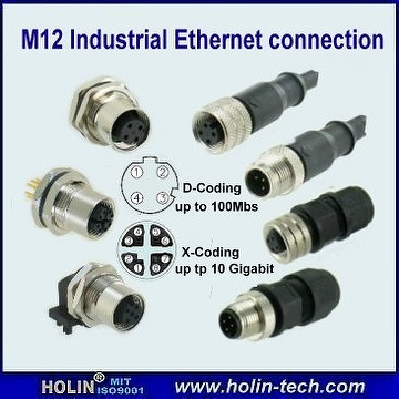 taiwan m12 industrial ethernet connector and cable assemblym12 industrial ethernet connector and cable assembly